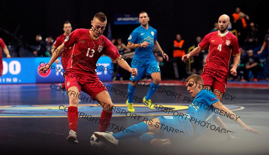 Milos Stojkovic  UEFA Euro 2016 Futsal Evropsko Prvenstvo, Srbija - Slovenija 2.2.1016. Februar 2. 2016. (credit image & photo: Pedja Milosavljevic / STARSPORT) total