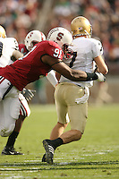 24 November 2007: Pannel Egboh during Stanford's 21-14 loss to Notre Dame at Stanford Stadium in Stanford, CA.