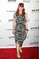 Ana Matronic wore a black and white printed chiffon dress while from Scissor Sisters attending amfAR's third annual Inspiration Gala at the New York Public Library in New York, 07.06.2012..Credit: Rolf Mueller/face to face /MediaPunch Inc. ***FOR USA ONLY*** NORTEPHOTO.COM