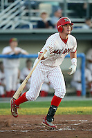 August 28th, 2007:  Travis Mitchell of the Batavia Muckdogs, Short-Season Class-A affiliate of the St. Louis Cardinals at Dwyer Stadium in Batavia, NY.  Photo by:  Mike Janes/Four Seam Images