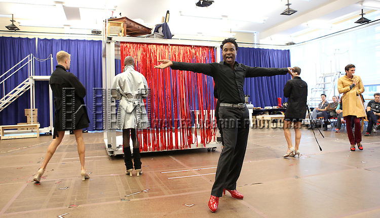 Billy Porter & Company performing in the Sneek Peek Press Preview of the New Broadway Musical 'Kinky Boots' at the New 42nd Street Studios in New York City on September 14, 2012.