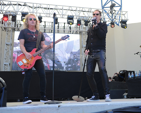 WEST PALM BEACH, FL - MAY 06: Night Ranger perform during Sunfest on May 06, 2017 in West Palm Beach Florida. Credit: mpi04/MediaPunch