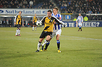VOETBAL: SC HEERENVEEN: Abe Lenstra Stadion, 17-02-2012, SC-Heerenveen-NAC, Eredivisie, Eindstand 1-0, Viktor Elm, Jordy Buijs, ©foto: Martin de Jong