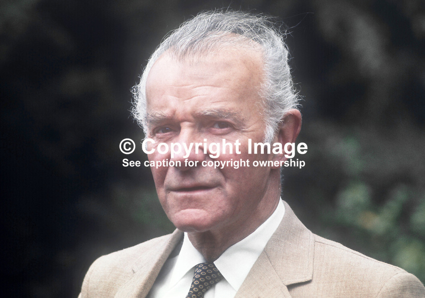 Frank Benner, Belfast, N Ireland, prominent Roman Catholic businessman, member of new Police Authority. July 1970. 197007010244<br /> <br /> Copyright Image from Victor Patterson, 54 Dorchester Park, Belfast, UK, BT9 6RJ<br /> <br /> t: +44 28 9066 1296<br /> m: +44 7802 353836<br /> vm +44 20 8816 7153<br /> <br /> e1: victorpatterson@me.com<br /> e2: victorpatterson@gmail.com<br /> <br /> www.victorpatterson.com<br /> <br /> IMPORTANT: Please see my Terms and Conditions of Use at www.victorpatterson.com