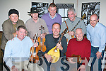 Launching the Padraig O'Keeffe music festival which will be held in Castleisland on the October bank holiday weekend in Browne's bar Castleisland on Friday night was front row l-r: Con Moynihan, Cormac O'Mahony, Charlie Nelligan. Back row: John Reidy, Eamon Flynn, Brendan Herbert, Denis O'Connor, and Peter Browne..