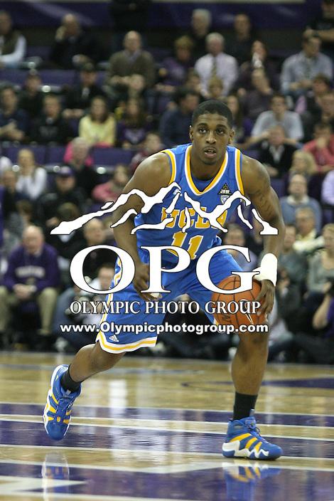 Mar 03, 2011:  UCLA's #11 Lazeric Jones brings the ball down court against Washington.  Washington defeated UCLA 70- 63 at Alaska Airlines Arena Seattle, Washington...