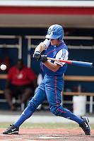 13 July 2010: Joris Bert of Team France is seen at bat during day 1 of the Open de Rouen, an international tournament with Team France, Team Saint Martin, Team All Star Elite, at Stade Pierre Rolland, in Rouen, France.