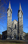 The Bowdoin College Chapel, Bowdoin College, Brunswick, Maine, USA