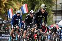 eventual runner-up Matteo Trentin (ITA/Mitchelton-Scott)<br /> <br /> Elite Men Road Race from Leeds to Harrogate (shortened to 262km)<br /> 2019 UCI Road World Championships Yorkshire (GBR)<br /> <br /> ©kramon