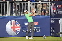 Marcel Siem (GER) on the 1st tee during Round 3 of the Sky Sports British Masters at Walton Heath Golf Club in Tadworth, Surrey, England on Saturday 13th Oct 2018.<br /> Picture:  Thos Caffrey | Golffile
