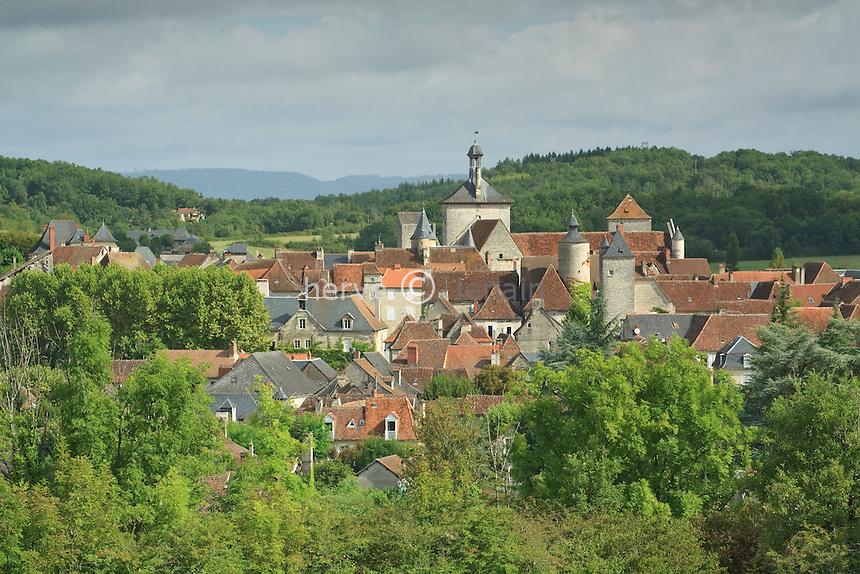 France, Lot (46), Martel, la ville aux 7 tours sur les Causses du Quercy // France, Lot, Martel, the city with seven towers on the Causses of Quercy