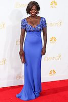 LOS ANGELES, CA, USA - AUGUST 25: Actress Viola Davis arrives at the 66th Annual Primetime Emmy Awards held at Nokia Theatre L.A. Live on August 25, 2014 in Los Angeles, California, United States. (Photo by Celebrity Monitor)