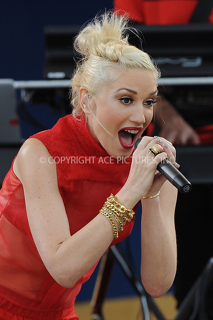 WWW.ACEPIXS.COM . . . . . .July 27, 2012...New York City....Gwen Stefani of No Doubt performs on GMA at Rumsey Playfield in Central Park on July 27, 2012 in New York City. ....Please byline: KRISTIN CALLAHAN - WWW.ACEPIXS.COM.. . . . . . ..Ace Pictures, Inc: ..tel: (212) 243 8787 or (646) 769 0430..e-mail: info@acepixs.com..web: http://www.acepixs.com .