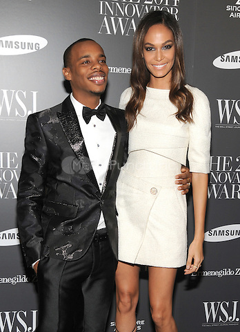 New York, NY-  November 5: Charles 'Lil Buck' Riley and Joan Smalls  attends the WSJ ' Innovator Of The Year' Awards at the Museum Of Modern Art on November 5, 2014 in New York City. Credit: John Palmer/MediaPunch