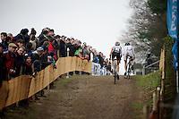 Sanne Cant (BEL) &amp; Sabrina Stultiens (NLD/Rabobank-Liv)<br /> <br /> Zolder CX UCI World Cup 2014