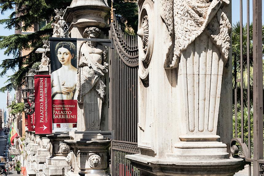 Gate to the Galleria Nazionale d'Arte Antica at  Palazzo Barberini