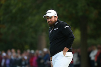 Shane Lowry (IRL) stares in frustration on the last during the Final Round of the British Masters 2015 supported by SkySports played on the Marquess Course at Woburn Golf Club, Little Brickhill, Milton Keynes, England.  11/10/2015. Picture: Golffile | David Lloyd<br /> <br /> All photos usage must carry mandatory copyright credit (© Golffile | David Lloyd)