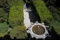 Villa d'Este di Tivoli, patrimonio mondiale dell' UNESCO..Villa d'Este is included in the UNESCO world heritage list..