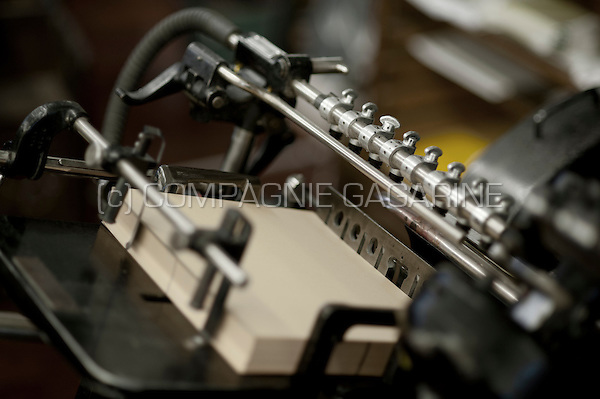 Le Typographe traditional printings technics studio in Brussels (Belgium, 30/07/2015)