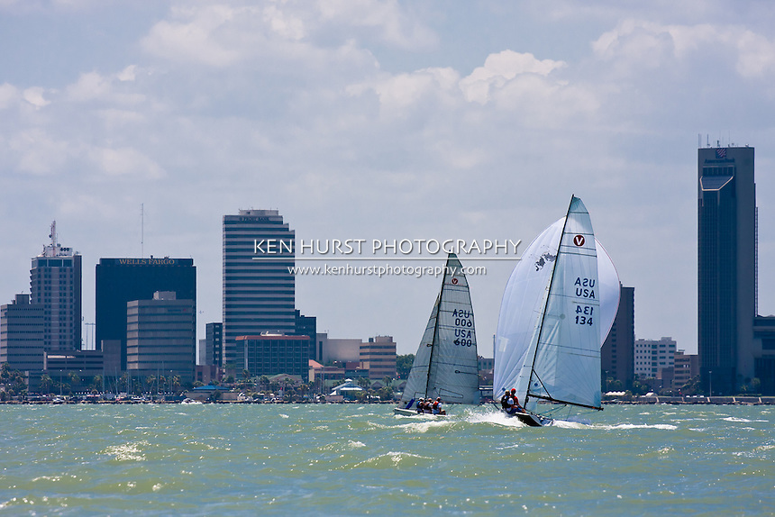 Mauri Pro Sailing Challenge Cup races for Viper 640 and J24 sailboats in Corpus Christi, Texas on June 11-12, 2011.