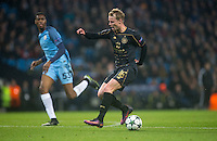 Gary Mackay-Steven of Celtic during the UEFA Champions League GROUP match between Manchester City and Celtic at the Etihad Stadium, Manchester, England on 6 December 2016. Photo by Andy Rowland.