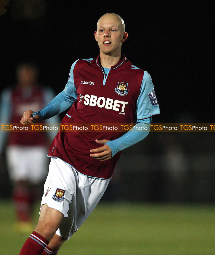 Dylan Tombides of West Ham - West Ham United Development Squad vs Arsenal Development Squad, Barclays Under-21 Premier League Group 1 at Rush Green Stadium, Rush Green - 21/09/12 - MANDATORY CREDIT: Rob Newell/TGSPHOTO - Self billing applies where appropriate - 0845 094 6026 - contact@tgsphoto.co.uk - NO UNPAID USE.