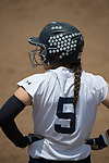 30 MAY 2016: Becky Notte (5) of Messiah College reaches base safely during the Division III Women's Softball Championship is held at the James I Moyer Sports Complex in Salem, VA.  University of Texas-Tyler defeated Messiah College 7-0 for the national title. Don Petersen/NCAA Photos