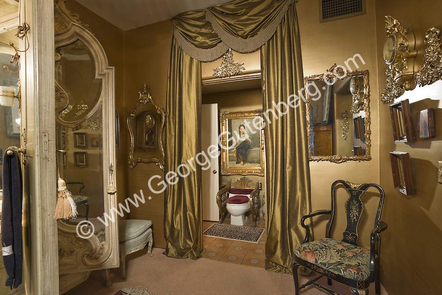 Stock photo of Liberace's toilet Stock photo of master bath, en suite, bathroom