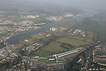Aerial Photo of Drogheda showing Train Station looking North East 03/02/06...Photo NEWSFILE/Fran Caffrey.(Photo credit should read Fran Caffrey/NEWSFILE)....This Picture has been sent you under the condtions enclosed by:.Newsfile Ltd..The Studio,.Millmount Abbey,.Drogheda,.Co Meath..Ireland..Tel: +353(0)41-9871240.Fax: +353(0)41-9871260.GSM: +353(0)86-2500958.email: pictures@newsfile.ie.www.newsfile.ie.FTP: 193.120.102.198...This picture is from Fran Caffrey@newsfile.ie
