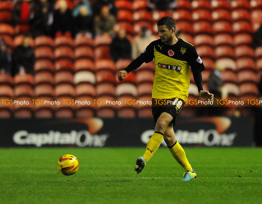 Daniel Pudil of Watford - Middlesbrough vs Watford - Sky Bet Championship Football at the Riverside Stadium, Middlesbrough - 09/11/13 - MANDATORY CREDIT: Steven White/TGSPHOTO - Self billing applies where appropriate - 0845 094 6026 - contact@tgsphoto.co.uk - NO UNPAID USE