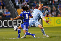 Jeff Larentowicz, Stephane Auvray...Kansas City Wizards defeated Colorado Rapids 1-0 at Community America Ballpark, Kansas City, Kansas.