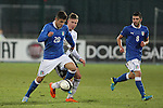 in action during the Four Nations football match tournament Italy vs Germany at Rovereto, on November 14, 2013.