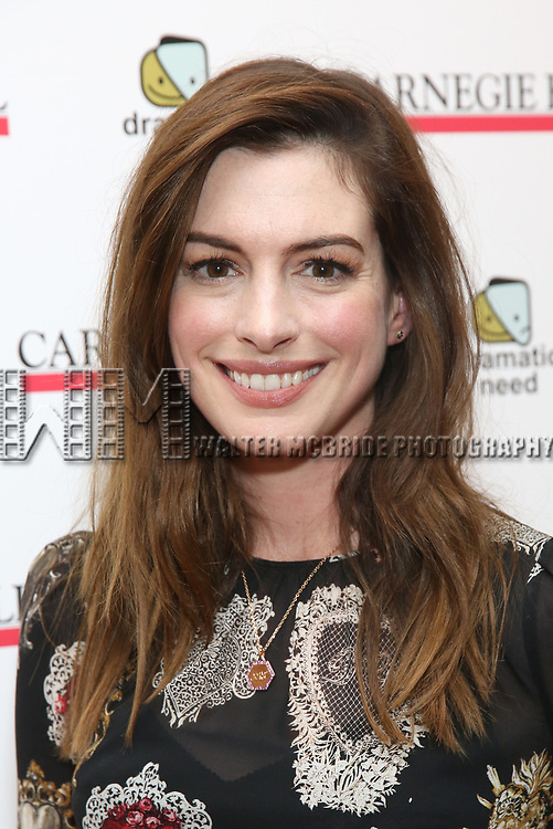 Anne Hathaway attends The Children's Monologues at Carnegie Hall on November 13, 2017 in New York City.