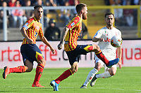 Zan Majer of US Lecce challenges for the ball with Miralem Pjanic of FC Juventus <br /> Lecce 26-10-2019 Stadio Via del Mare <br /> Football Serie A 2019/2020 <br /> US Lecce - FC Juventus<br /> Photo Carmelo Imbesi / Insidefoto