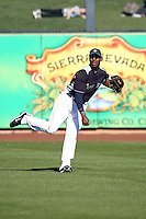 Johermyn Chavez #70 of the Seattle Mariners plays in a spring training game against the San Diego Padres at Peoria Stadium on February 27, 2011  in Peoria, Arizona. .Photo by:  Bill Mitchell/Four Seam Images.