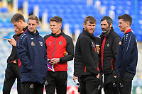 Altrincham players inspect the pitch during Portsmouth vs Altrincham, Emirates FA Cup Football at Fratton Park on 30th November 2019