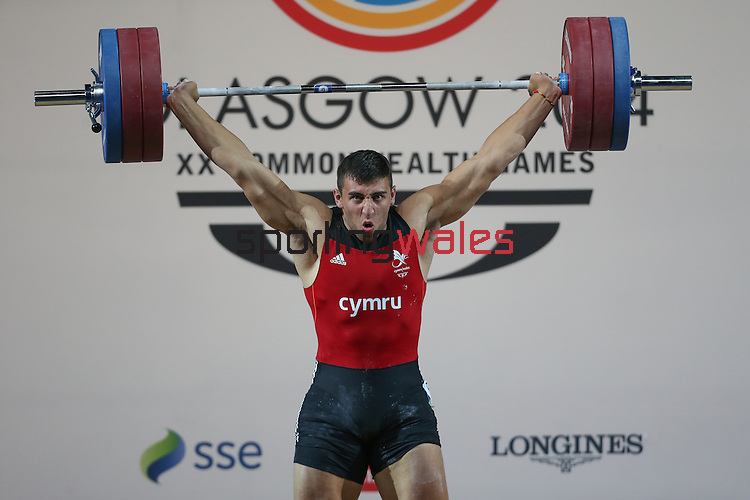 Glasgow 2014 Commonwealth Games<br /> <br /> Darius Jokarzadeh (Wales) competing in the mens super heavyweight weightlifting<br /> <br /> 31.07.14<br /> ©Steve Pope-SPORTINGWALES