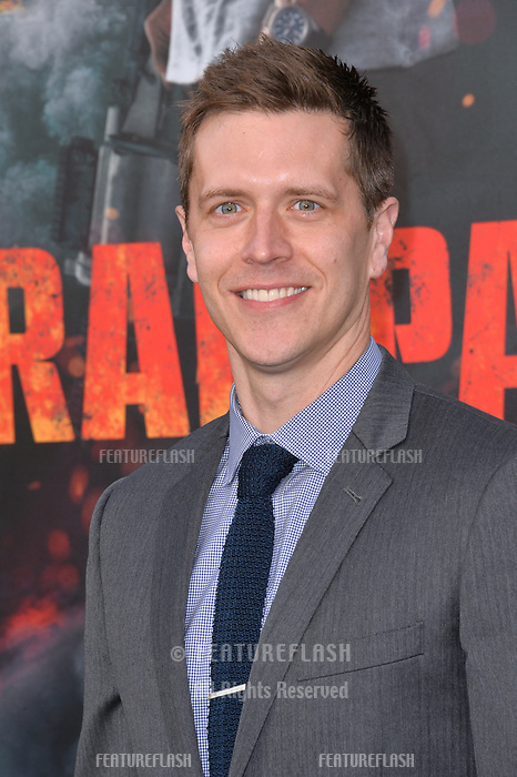 Adam Sztykiel at the premiere for &quot;Rampage&quot; at the Microsoft Theatre, Los Angeles, USA 04 April 2018<br /> Picture: Paul Smith/Featureflash/SilverHub 0208 004 5359 sales@silverhubmedia.com