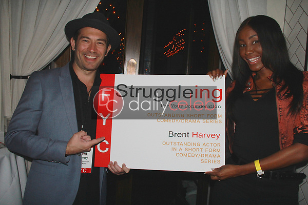 "Brent Harvey, Tanjareen<br /> at the ""Struggleing"" For Your Consideration event hosted by A. Whole Productions and Brent Harvey Films, Crossroads Kitchen, Los Angeles, CA 06-06-18<br /> David Edwards/DailyCeleb.com 818-249-4998"