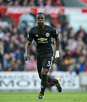 Eric Bailly of Man Utd during the Premier League match between Stoke City and Manchester United at the Britannia Stadium, Stoke-on-Trent, England on 9 September 2017. Photo by Andy Rowland.