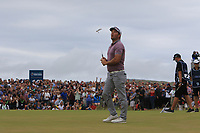 Ryan Fox (NZL) on the 18th green on the play-off hole during Round 4 of the Dubai Duty Free Irish Open at Ballyliffin Golf Club, Donegal on Sunday 8th July 2018.<br /> Picture:  Thos Caffrey / Golffile
