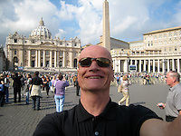 Self-portrait at the Vatican