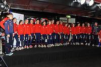 SCHAATSEN: HEERENVEEN: IJsstadion Thialf, 01-11-2012, Presentatie Friese baanselectie, ©foto Martin de Jong
