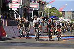 Andre Greipel (GER) Lotto-Soudal crosses the finish line in Tortoli to win Stage 2 of the 100th edition of the Giro d'Italia 2017, running 221km from Olbia to Tortoli, Sardinia, Italy. 6th May 2017.<br /> Picture: Eoin Clarke | Cyclefile<br /> <br /> <br /> All photos usage must carry mandatory copyright credit (&copy; Cyclefile | Eoin Clarke)