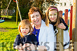 Annabel and Marie Claire van Verde with Shiela O'Riordan at the kids tea party in the Malton hotel on Sunday