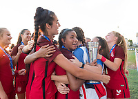 Bradenton, FL - Sunday, June 12, 2018: USA, celebration during a U-17 Women's Championship Finals match between USA and Mexico at IMG Academy.  USA defeated Mexico 3-2 to win the championship.