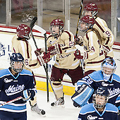 Kaliya Johnson (BC - 6), Kate Leary (BC - 28), Meagan Mangene (BC - 24), Taylor Wasylk (BC - 9) - The Boston College Eagles defeated the visiting University of Maine Black Bears 10-0 on Saturday, December 1, 2012, at Kelley Rink in Conte Forum in Chestnut Hill, Massachusetts.