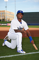 Tulsa Drillers second baseman Willie Calhoun (1) poses for a photo before a game against the Arkansas Travelers on April 28, 2016 at ONEOK Field in Tulsa, Oklahoma.  Tulsa defeated Arkansas 5-4.  (Mike Janes/Four Seam Images)