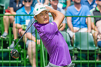 Haotong Li (CHN) on the 1st tee during the first round at the Nedbank Golf Challenge hosted by Gary Player,  Gary Player country Club, Sun City, Rustenburg, South Africa. 14/11/2019 <br /> Picture: Golffile | Tyrone Winfield<br /> <br /> <br /> All photo usage must carry mandatory copyright credit (© Golffile | Tyrone Winfield)