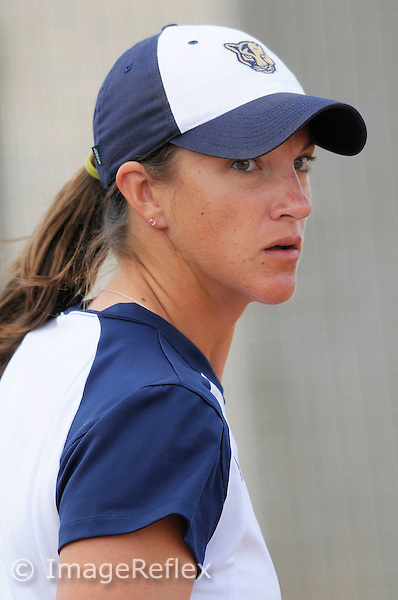 10 February 2007: Florida International Softball Head Coach Beth McClendon watches her players in the Pittsburgh 2-0 victory over FIU in the FIU Blue & Gold Invitational at FIU University Park in Miami, Florida.
